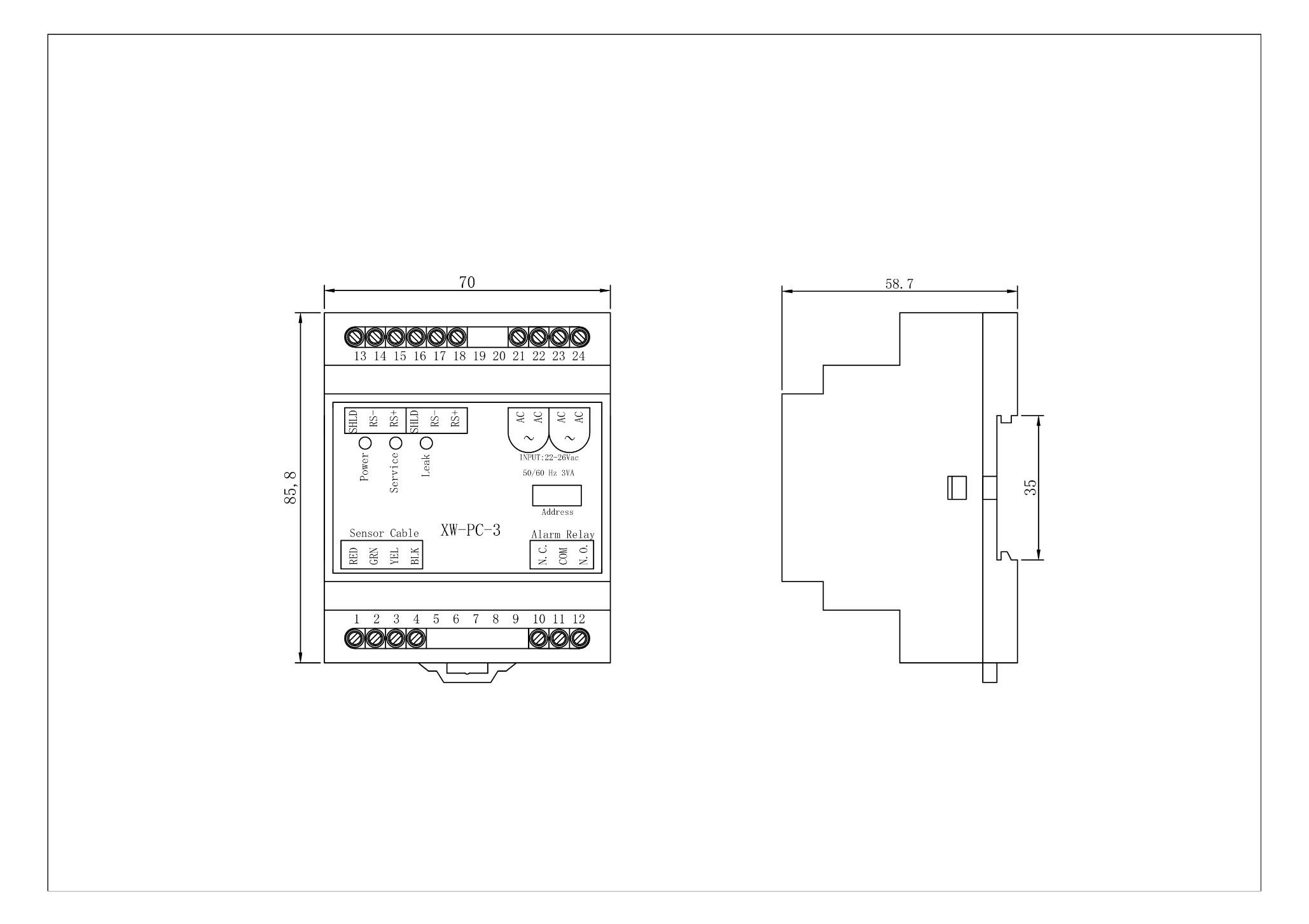 XW-PC-3尺寸图
